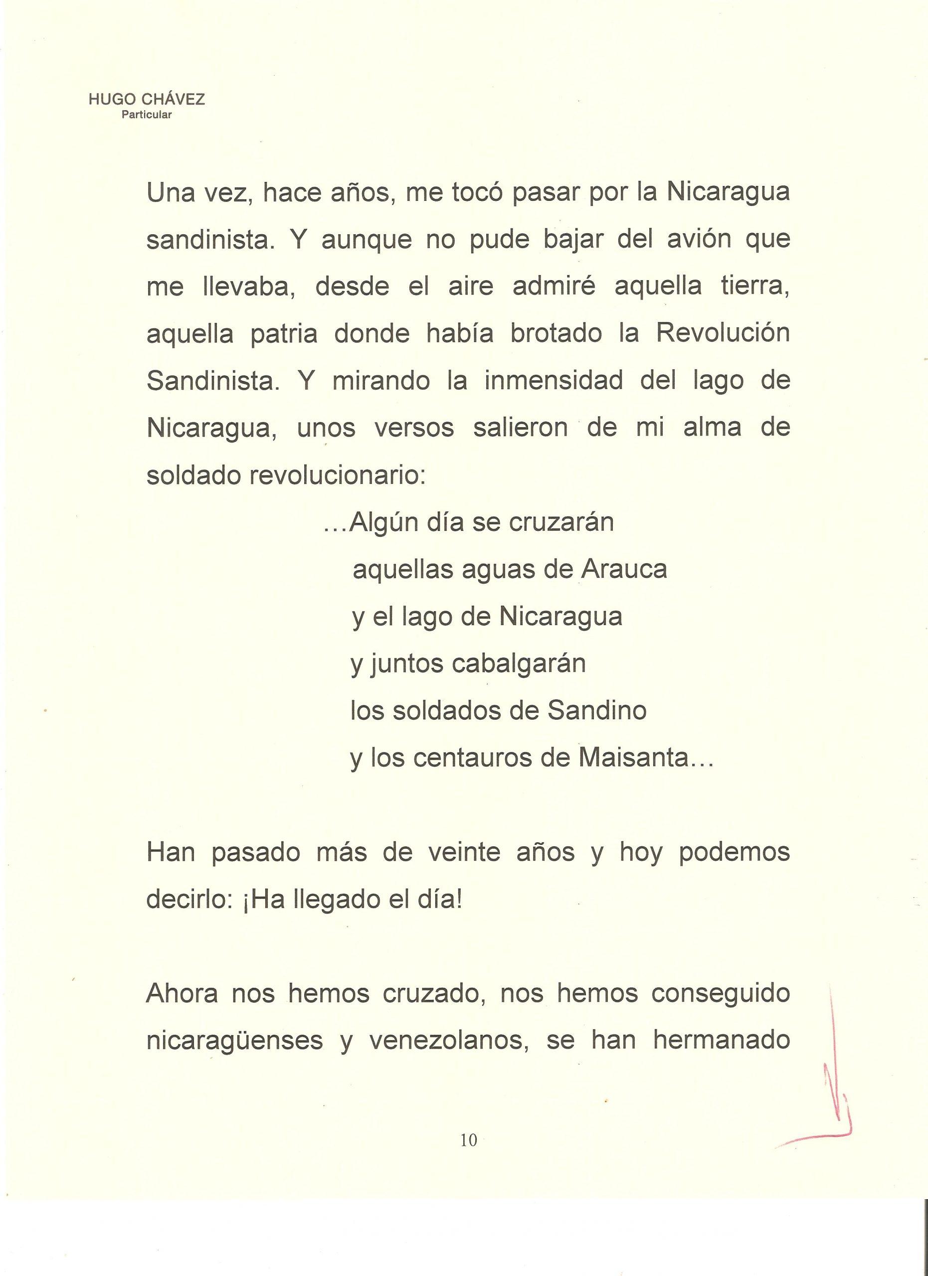 PROLOGO DE HUGO CHAVEZ A WALTER 10