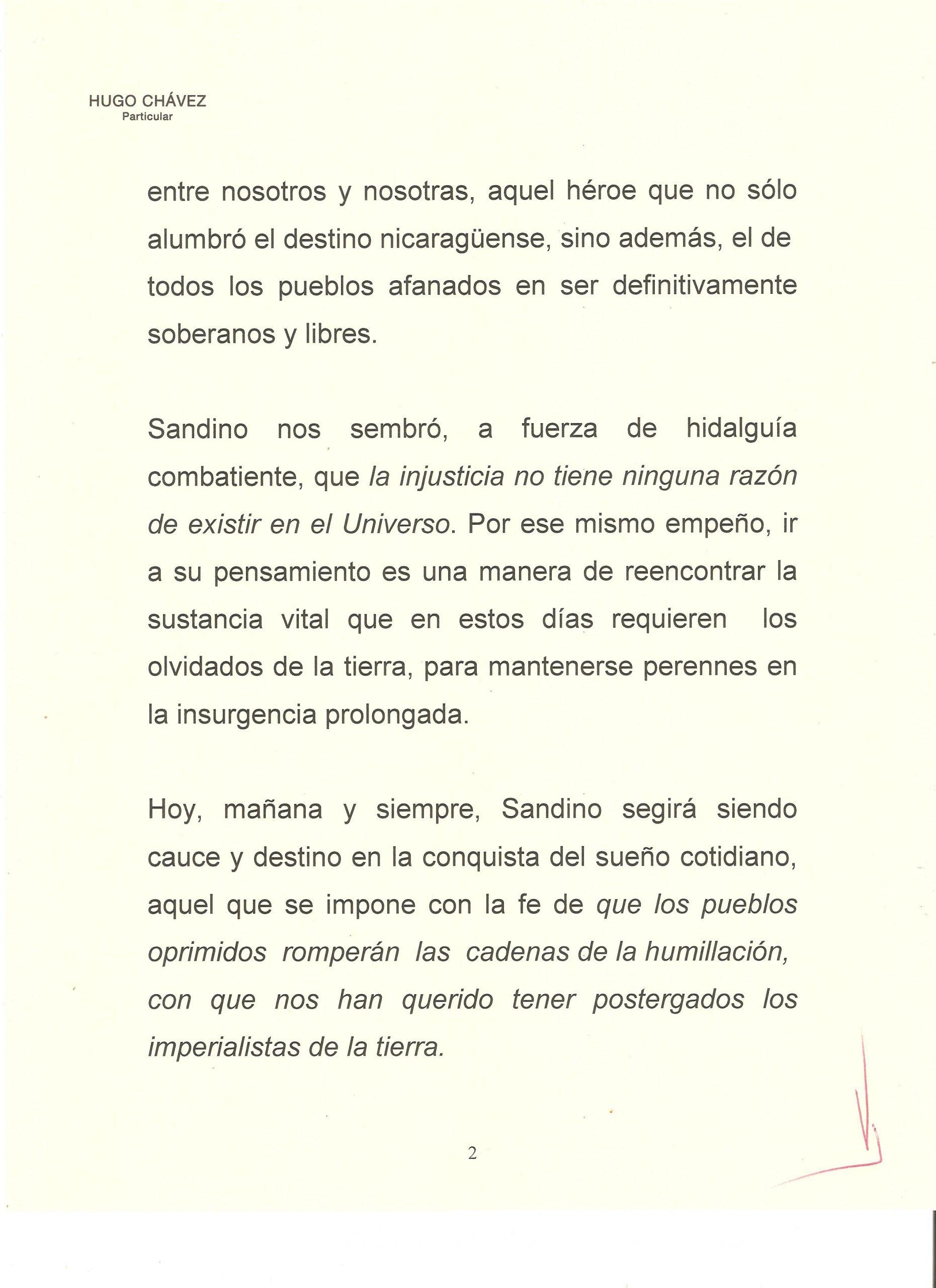 PROLOGO DE HUGO CHAVEZ A WALTER 2