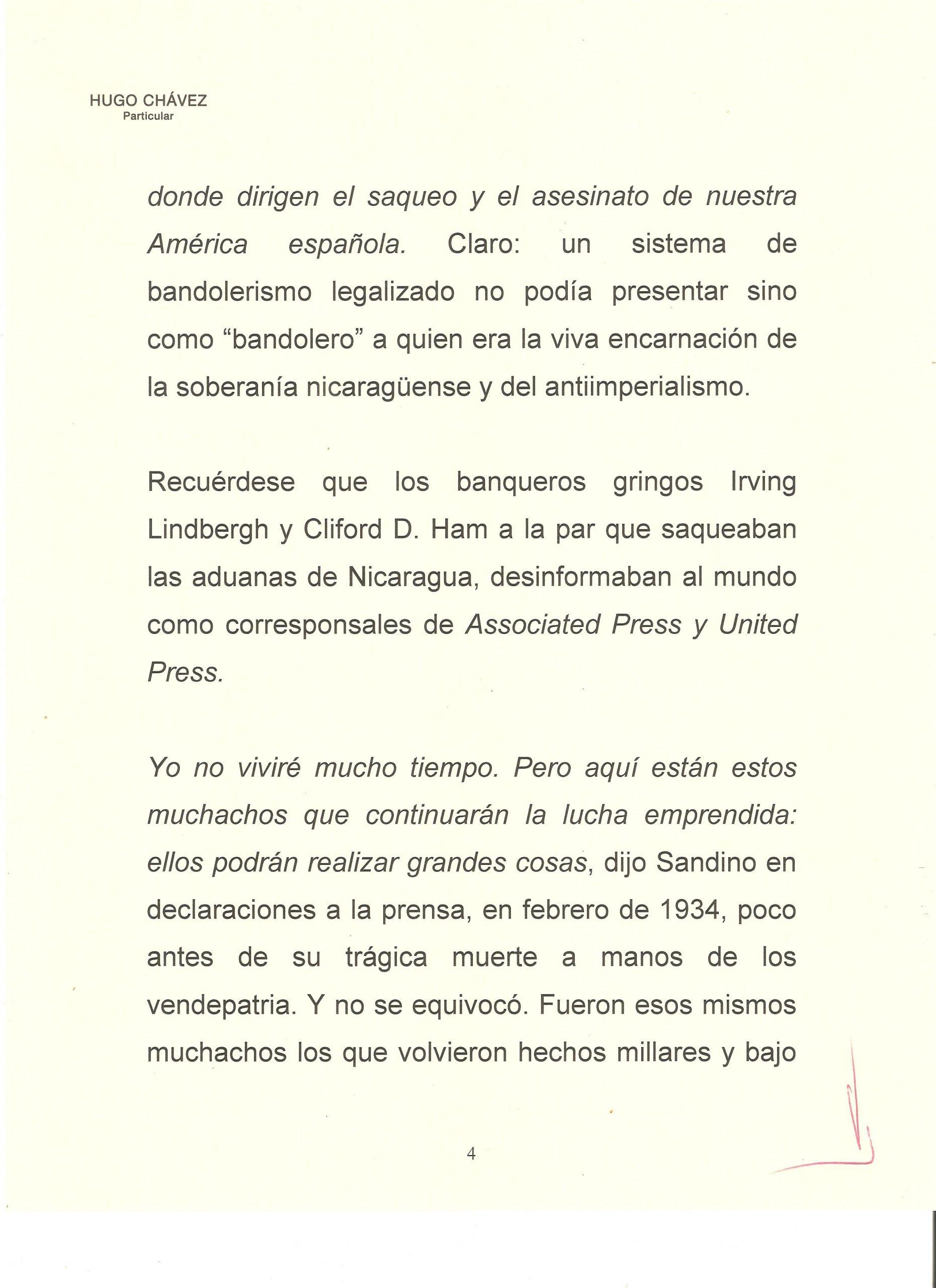 PROLOGO DE HUGO CHAVEZ A WALTER 4