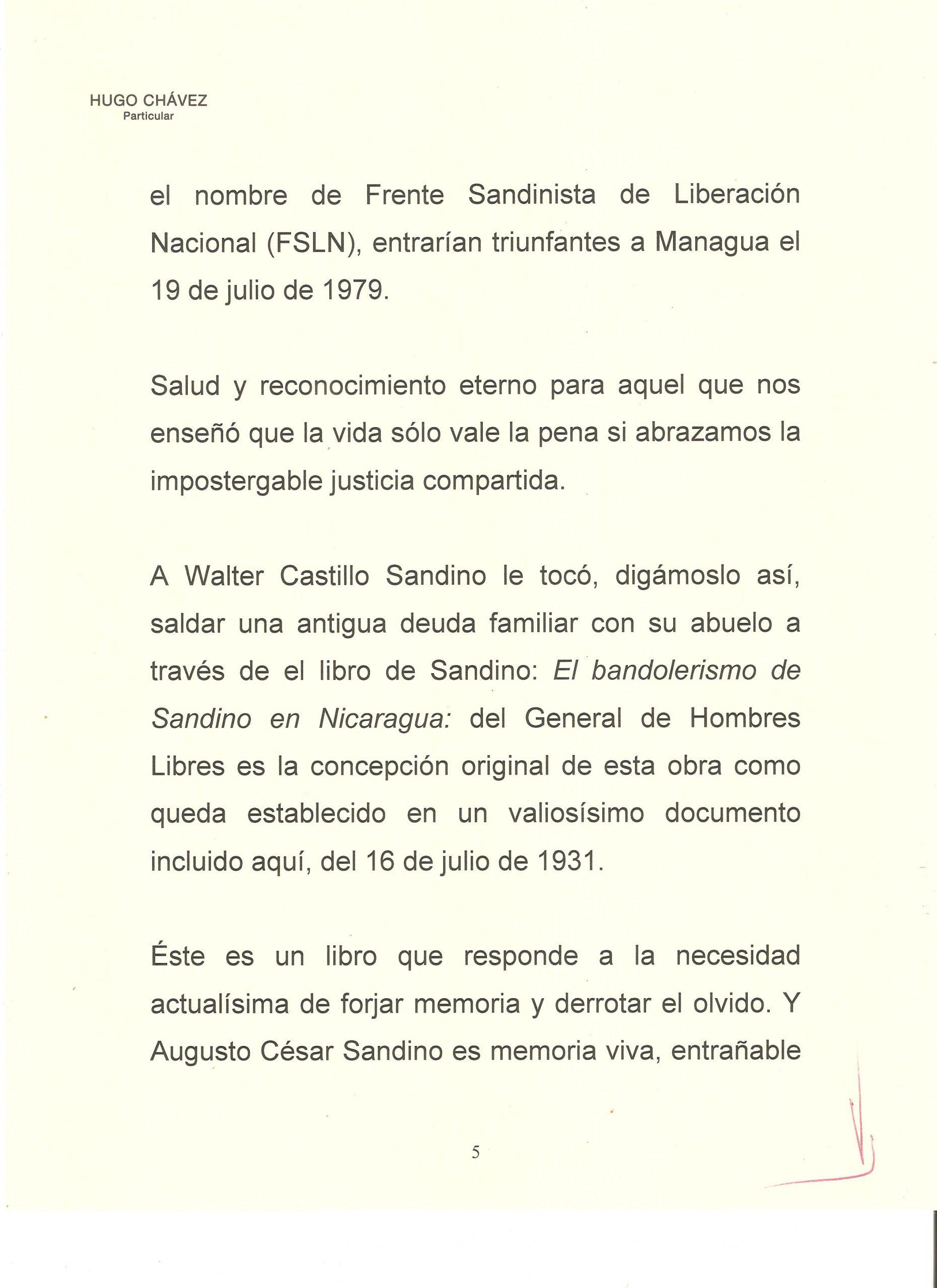 PROLOGO DE HUGO CHAVEZ A WALTER 5
