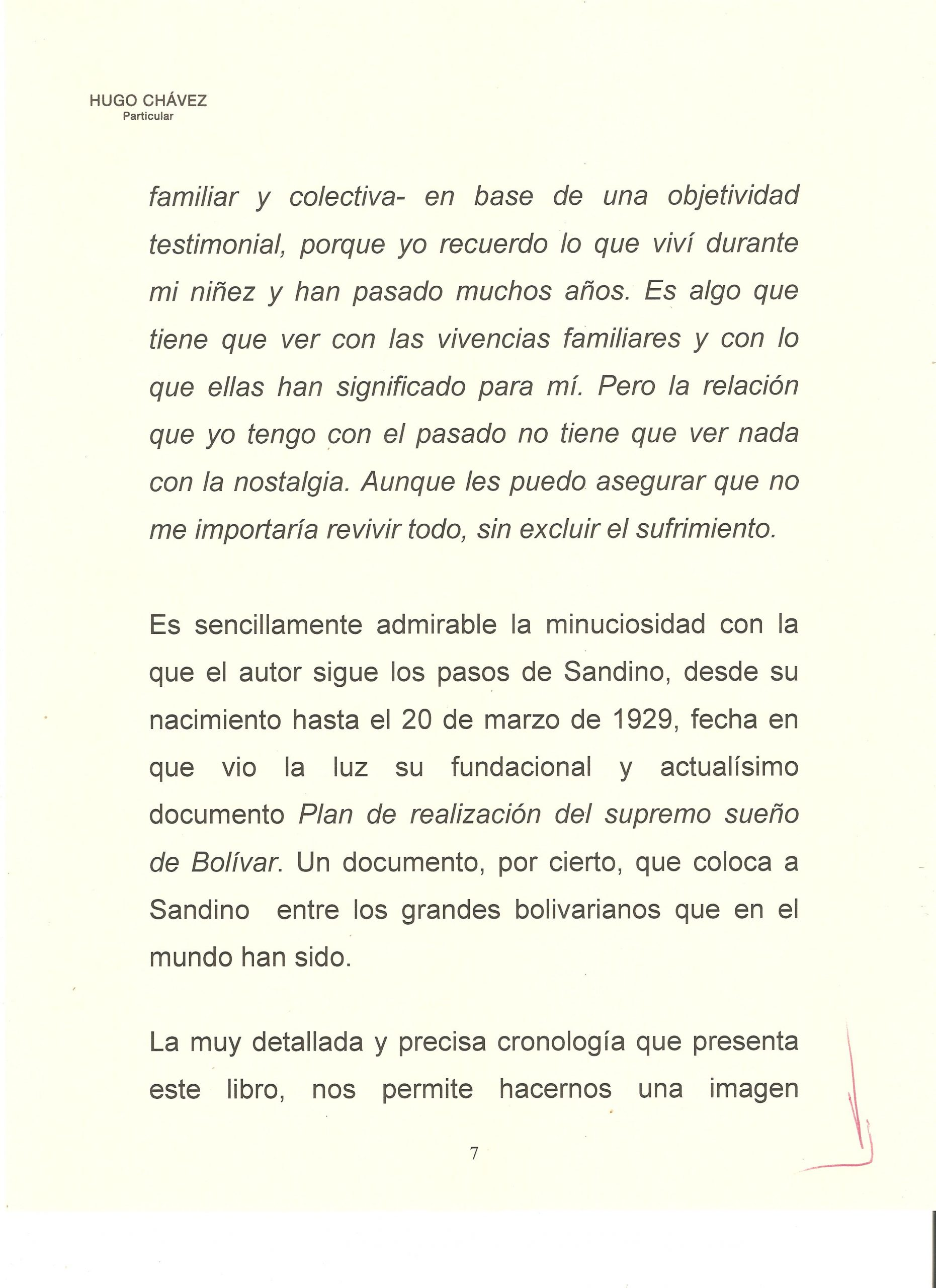 PROLOGO DE HUGO CHAVEZ A WALTER 7