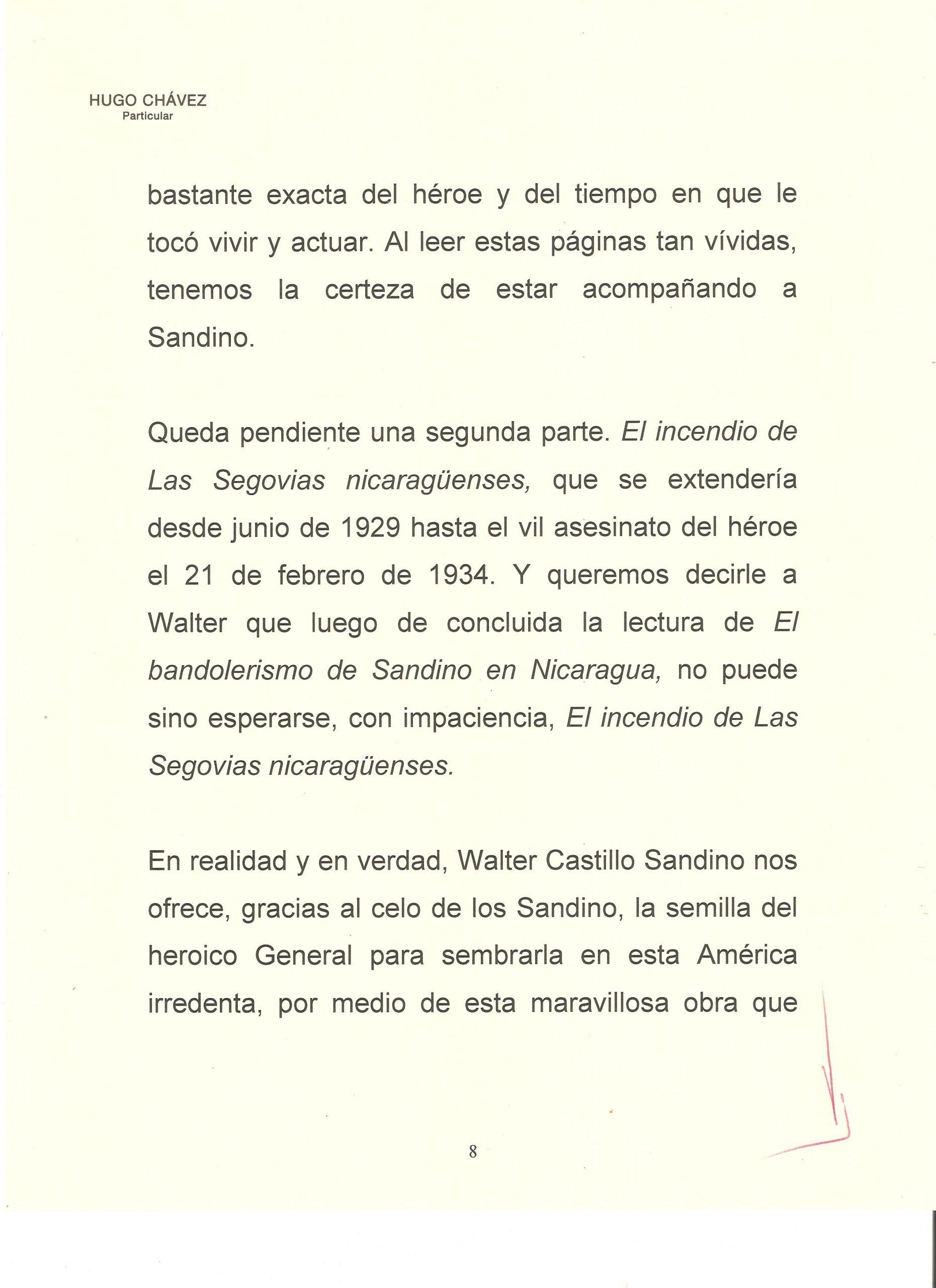 PROLOGO DE HUGO CHAVEZ A WALTER 8
